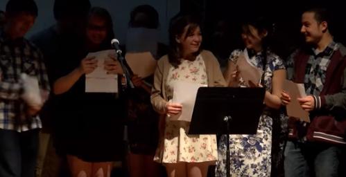 10th Graders singing Gongxi Song