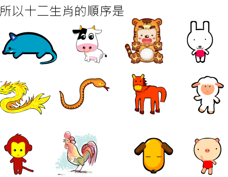 zodiac 12 animals in sequence picture.PNG