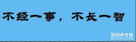 Bu Jing yi shi, bu zhang yi zhi calligraphy